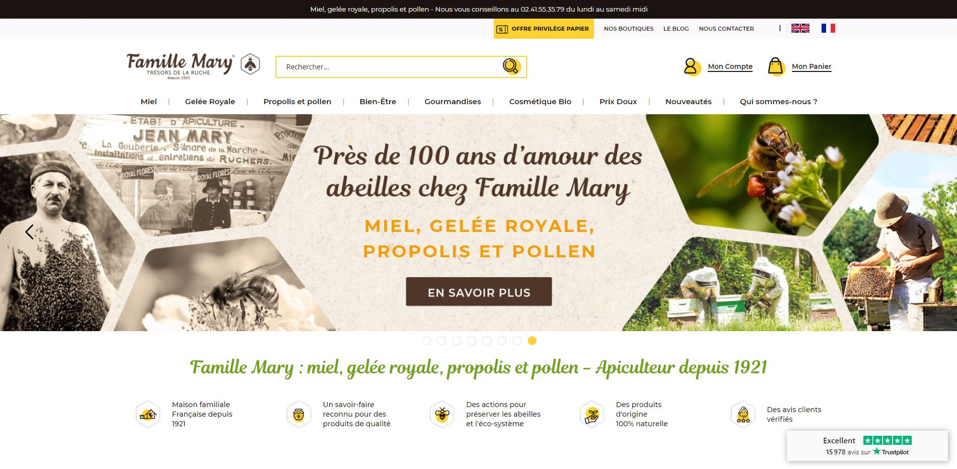 site internet famille mary